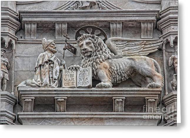 Byzantine Greeting Cards - The Lion of Saint Mark II Greeting Card by Lee Dos Santos