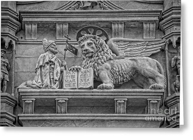 Byzantine Greeting Cards - The Lion of Saint Mark Greeting Card by Lee Dos Santos