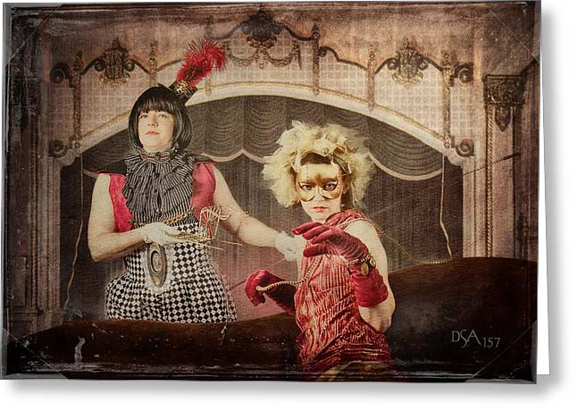 Steampunk Photographs Greeting Cards - The Lion Tamer Greeting Card by David April