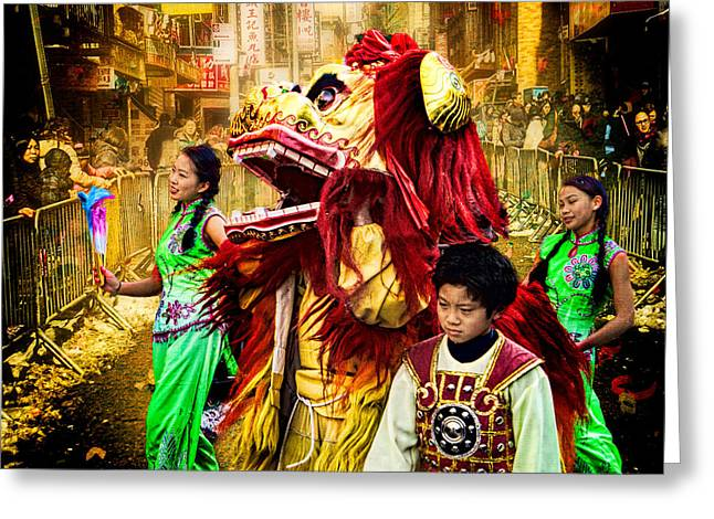 Tamer Greeting Cards - The Lion Tamers Greeting Card by Chris Lord