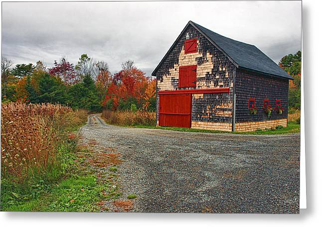 Rural Maine Roads Photographs Greeting Cards - The Little Barn Greeting Card by Marcia Colelli