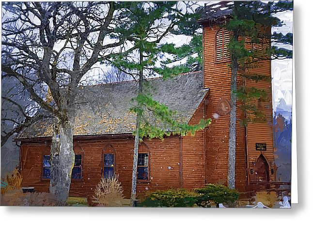 Vale Greeting Cards - The Little Brown Church in the Vale Greeting Card by Kirt Tisdale