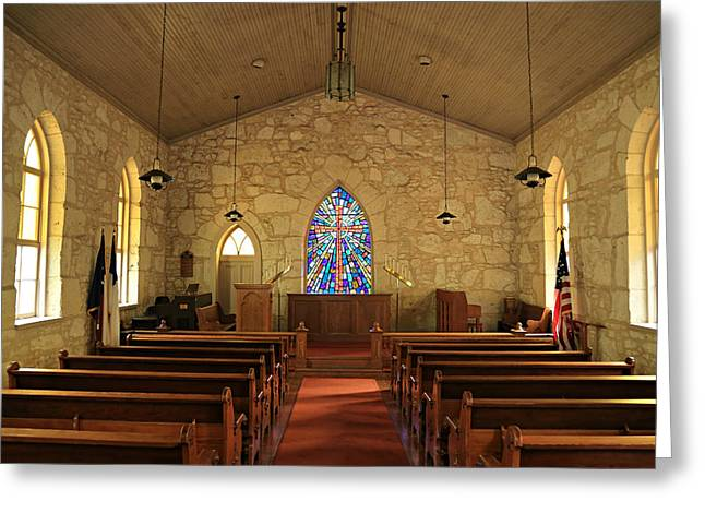 La Villita Greeting Cards - The Little Church of La Villita Greeting Card by Stephen Stookey