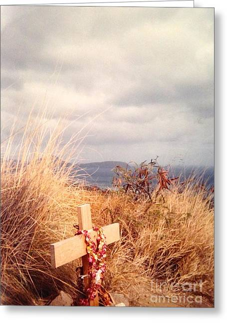 Hawaiin Greeting Cards - The Little Cross Greeting Card by Carla Carson
