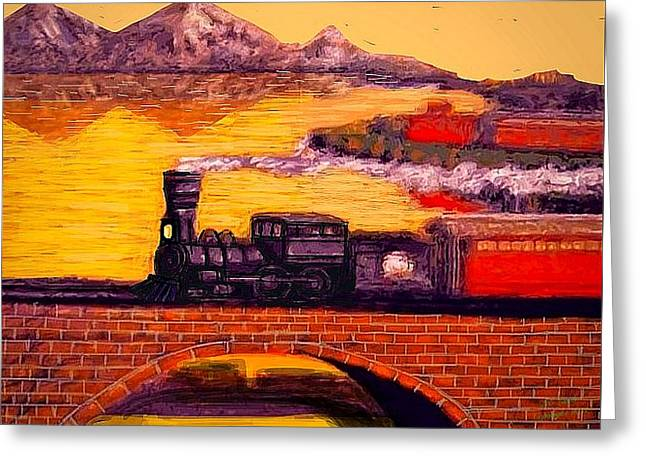 Amazing Stories Greeting Cards - The Little Engine Greeting Card by Larry Lamb