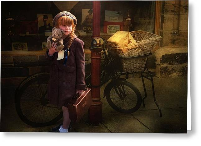 Ww11 Photographs Greeting Cards - The Little Evacuee Greeting Card by Brian Tarr