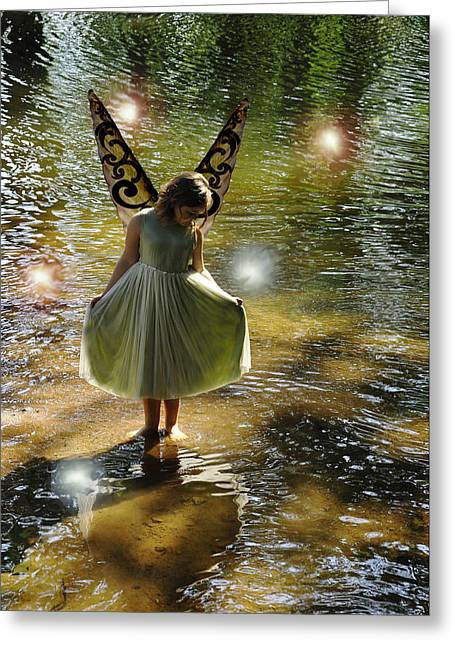 Angela Castillo Greeting Cards - The Little Green Fairy Greeting Card by Angela Castillo