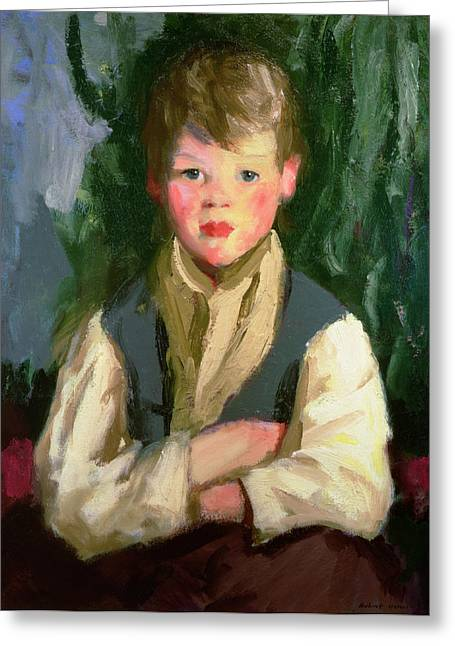 Healthy Greeting Cards - The Little Irishman, 1913 Greeting Card by Robert Cozad Henri