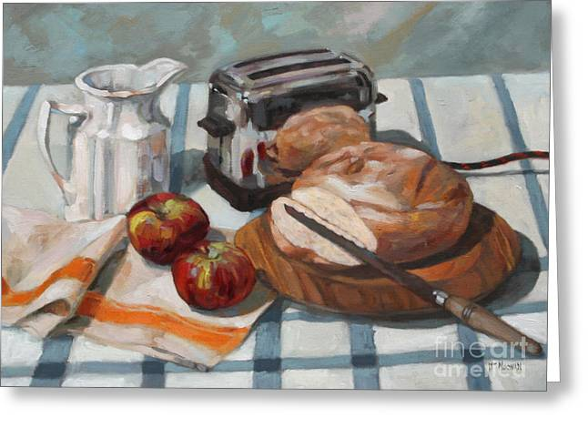 Toaster Paintings Greeting Cards - The Little Kenmore Toaster Greeting Card by William Noonan