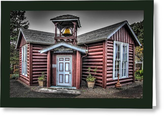 Canvas Wall Art Greeting Cards - The Little Log Church By The Sea Greeting Card by Thom Zehrfeld