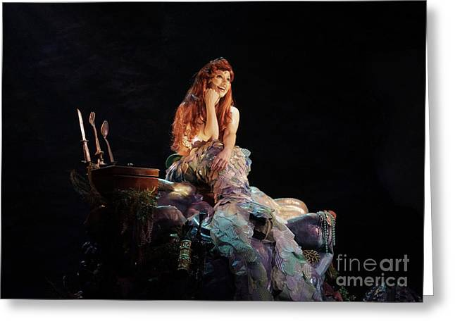 Theater Pyrography Greeting Cards - The Little Mermaid - Ariel Greeting Card by AK Photography