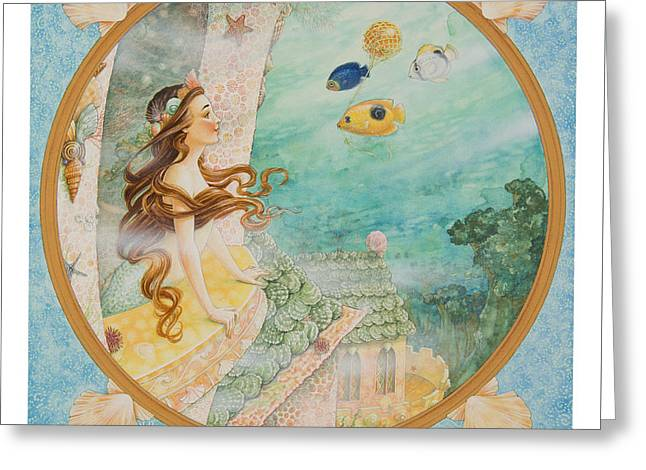 Glass Buoys Greeting Cards - The Little Mermaid Greeting Card by Lynn Bywaters