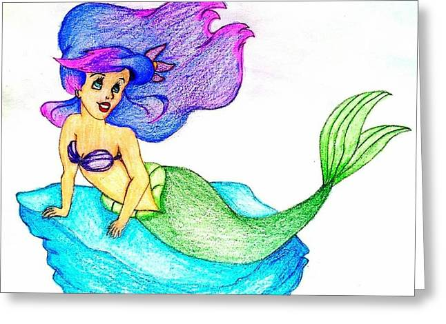 The Little Mermaid Greeting Cards - The Little Mermaid Greeting Card by Vance Medeiros