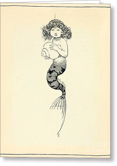 The Little Mermaid Greeting Cards - The Little Mermaid Greeting Card by William Heath Robinson