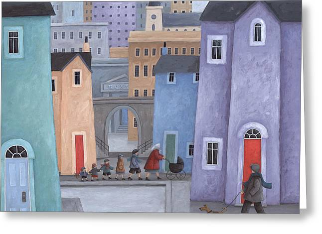 The Little Ones Greeting Card by Peter Adderley