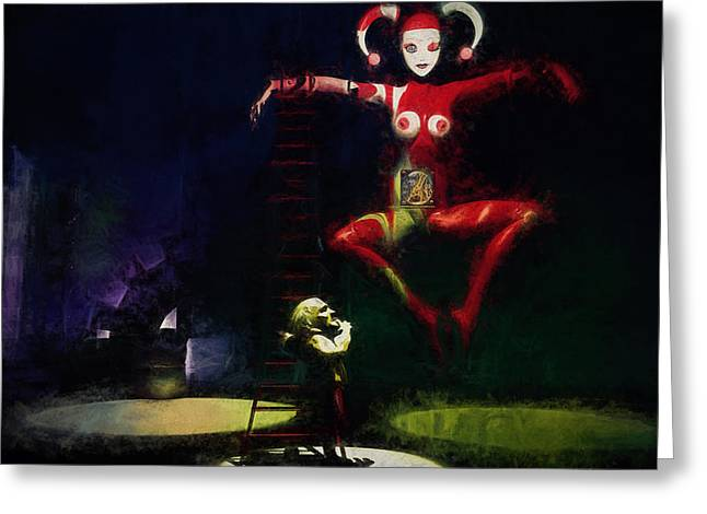 Jesters Puppet Greeting Cards - The Little Puppet Master Greeting Card by Bob Orsillo