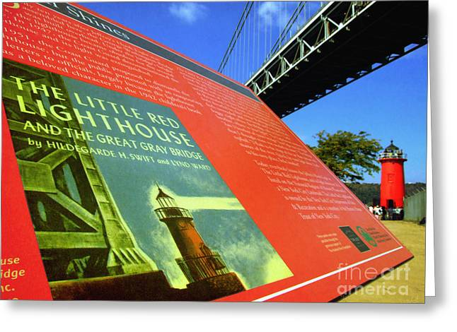 Famous Bridge Greeting Cards - The Little Red Lighthouse and The Great Gray Bridge Greeting Card by Nishanth Gopinathan