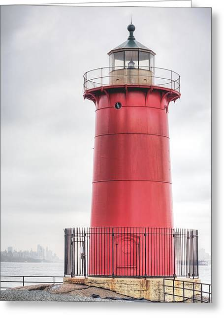 S-hooks Greeting Cards - The Little Red Lighthouse Greeting Card by JC Findley