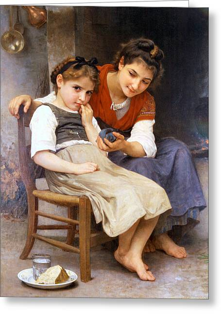 Williams Sisters Greeting Cards - The Little Sulk Greeting Card by William Bouguereau