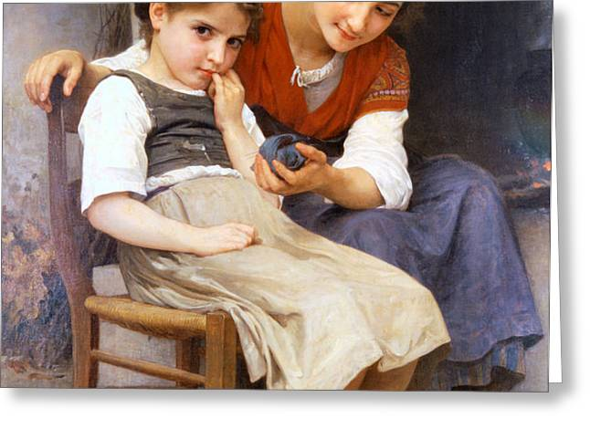 The Little Sulk Greeting Card by William Bouguereau