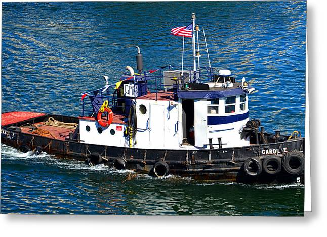 Recently Sold -  - Commercial Photography Greeting Cards - The little tug that could Greeting Card by David Lee Thompson