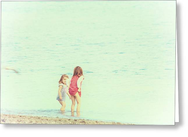 Wader Greeting Cards - The Little Waders Greeting Card by Constance Fein Harding