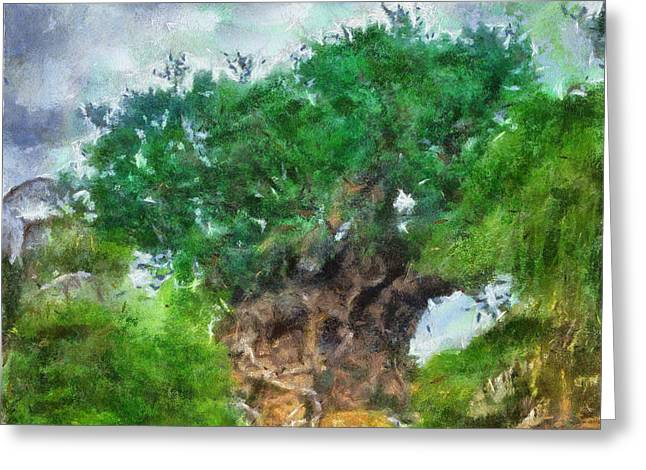The Living Tree Wdw Photo Art Greeting Card by Thomas Woolworth