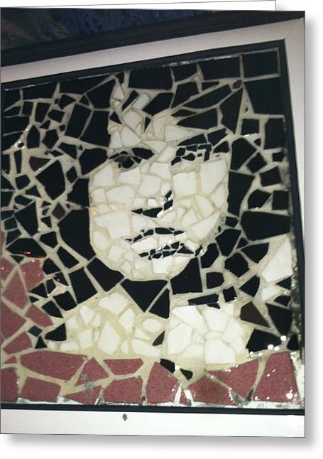 Portraits Ceramics Greeting Cards - The Lizard King Greeting Card by Arabella Woods