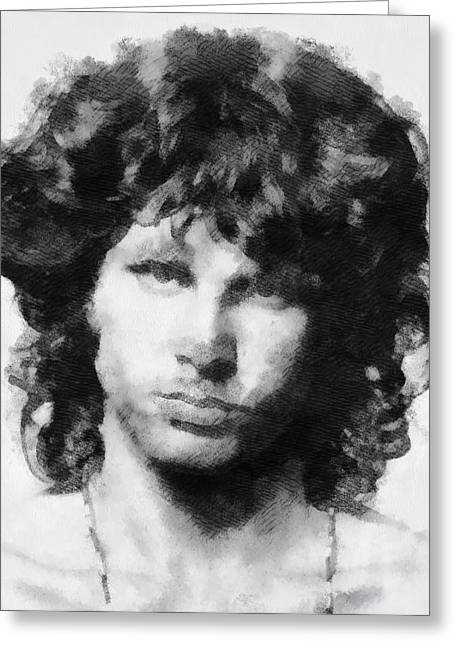 Backdoor Greeting Cards - The Lizard King Greeting Card by Dan Sproul