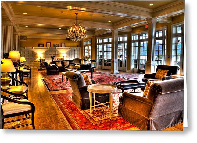 The Lake George Greeting Cards - The Lobby at the Sagamore Resort Greeting Card by David Patterson