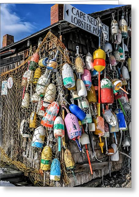 Lobster Shack Greeting Cards - The Lobster Pound - Cape Neddick Maine Greeting Card by Thomas Schoeller