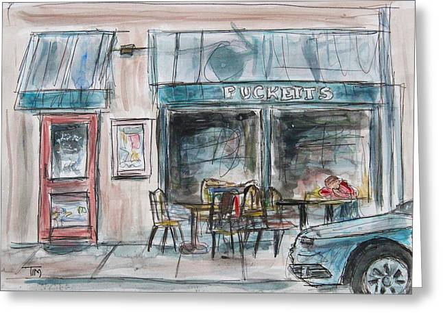 Franklin Tennessee Greeting Cards - The Local Chat n Chew Greeting Card by Tim Ross