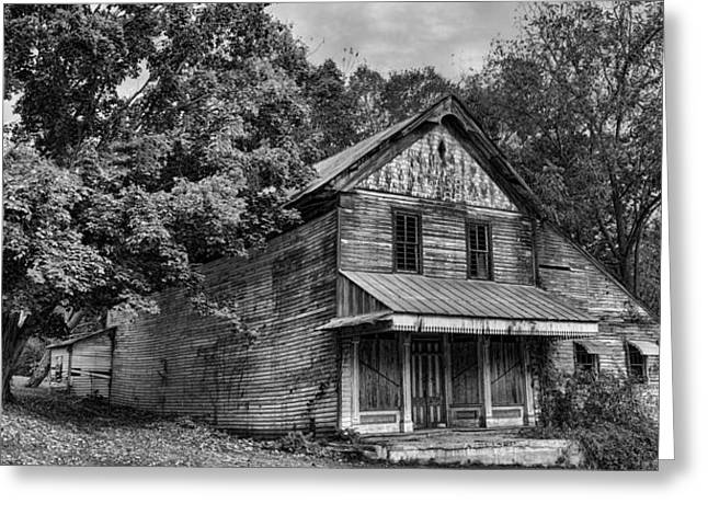 Historic Country Store Greeting Cards - The Local Haunted House Greeting Card by Heather Applegate