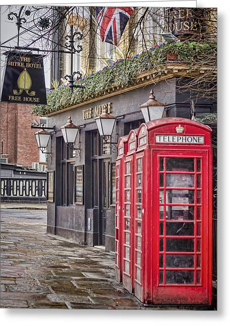 Telephone Booth Greeting Cards - The Local Greeting Card by Heather Applegate