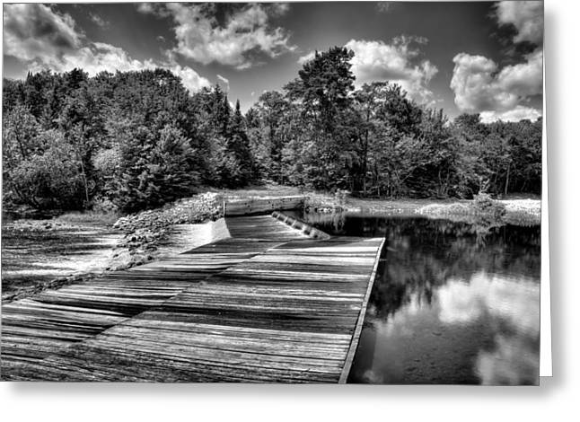 Spillways Greeting Cards - The Lock and Dam on the Moose River Greeting Card by David Patterson