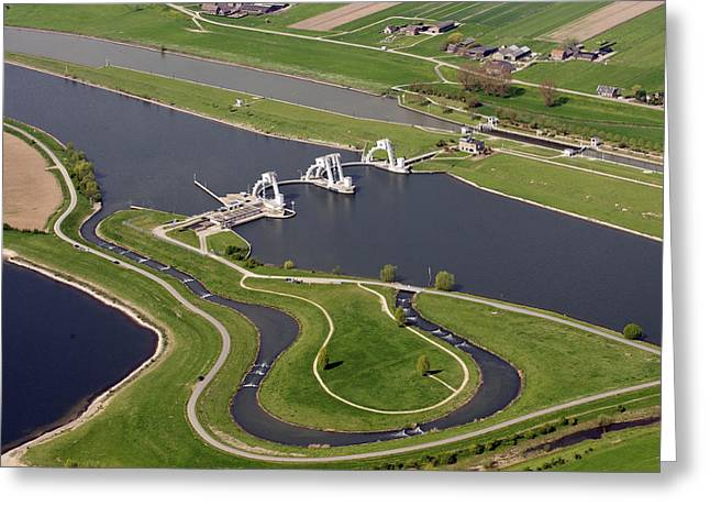 Gelderland Greeting Cards - The Lock And Weir Complex Amerongen Greeting Card by Bram van de Biezen