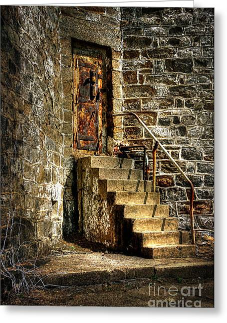 Doorway Digital Greeting Cards - The Locked Door Greeting Card by Lois Bryan