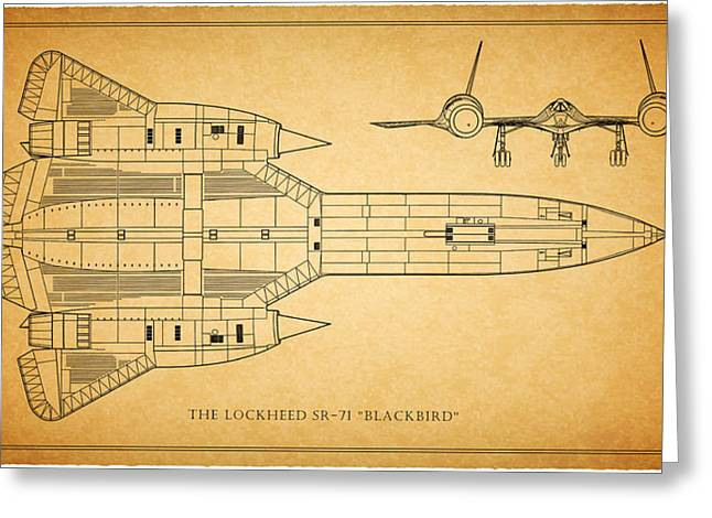 Blackbird Greeting Cards - The Lockheed SR-71 Blackbird Greeting Card by Mark Rogan