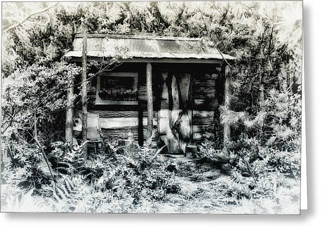 Log Cabins Greeting Cards - The Log Cabin Greeting Card by Bill Cannon