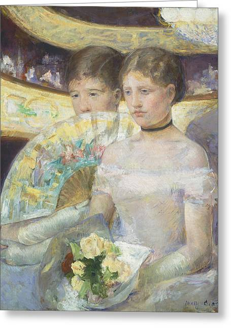 Cassatt Greeting Cards - The Loge Greeting Card by Celestial Images