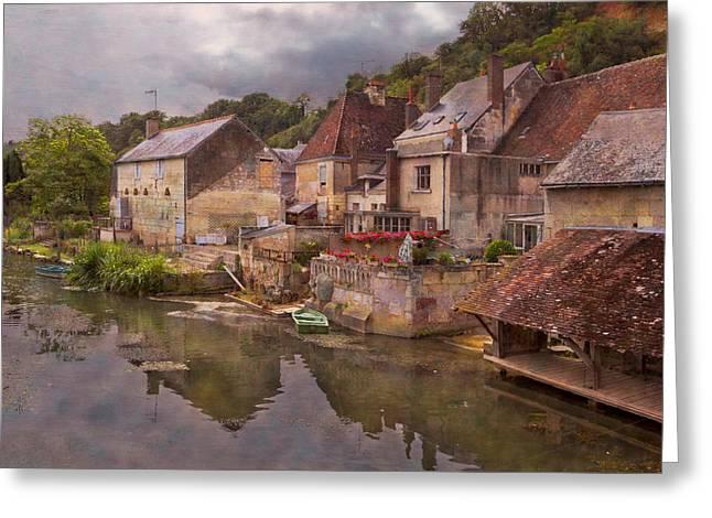 The Loir River Greeting Card by Debra and Dave Vanderlaan