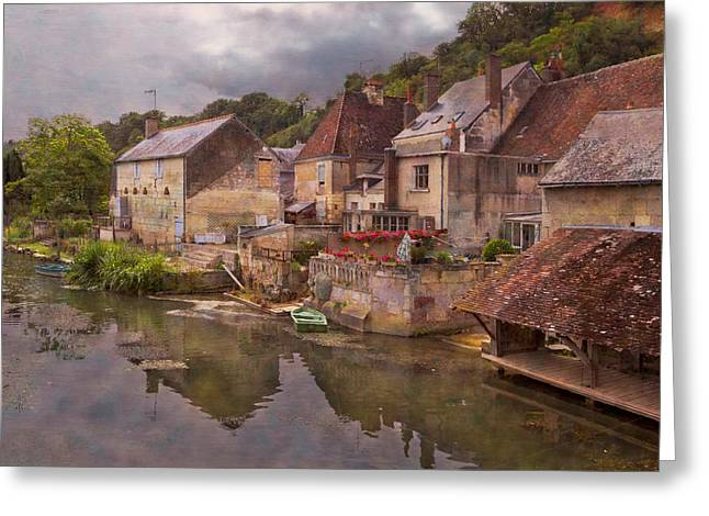 Chateau Greeting Cards - The Loir River Greeting Card by Debra and Dave Vanderlaan