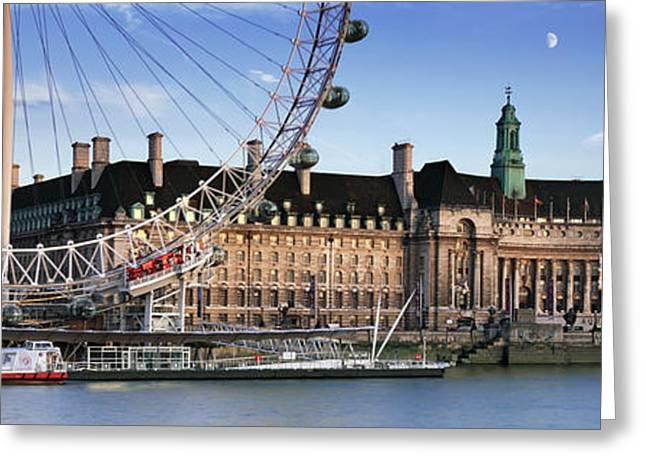 Hall Greeting Cards - The London Eye and County Hall Greeting Card by Rod McLean