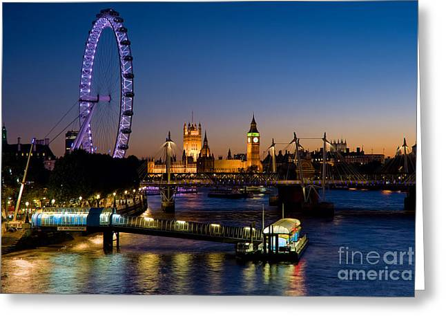 The London Eye London England Greeting Card by Bill Cobb