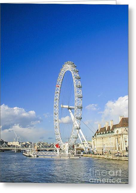 Londoneye Greeting Cards - The London eye Greeting Card by Patricia Hofmeester