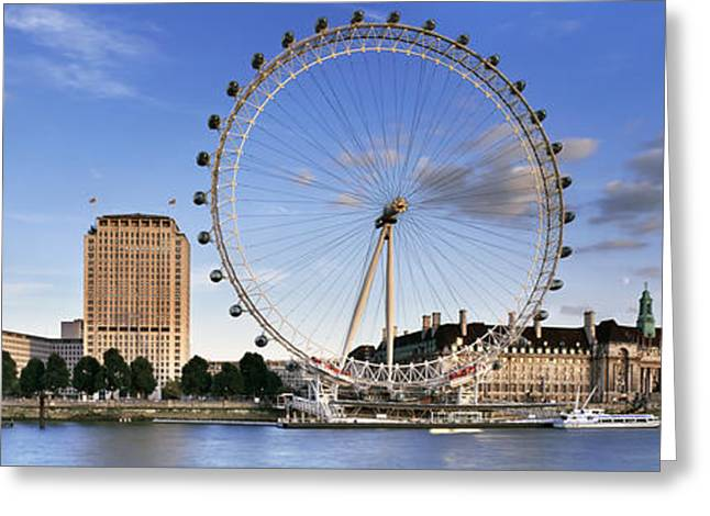 South Bank Greeting Cards - The London Eye Greeting Card by Rod McLean
