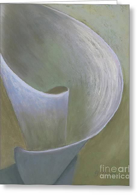 Close Up Floral Pastels Greeting Cards - The Lone Lily Greeting Card by Ginny Neece