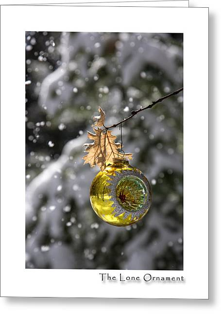 Christmas Greeting Photographs Greeting Cards - The Lone Ornament 6th Edition Greeting Card by Peter Tellone