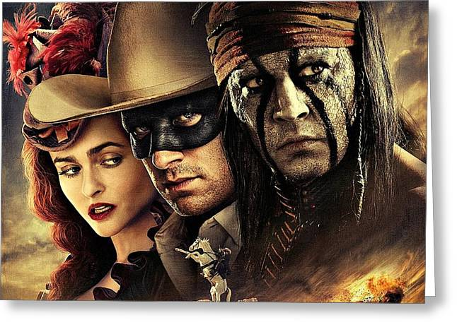 Clayton Digital Greeting Cards - The Lone Ranger Greeting Card by Movie Poster Prints