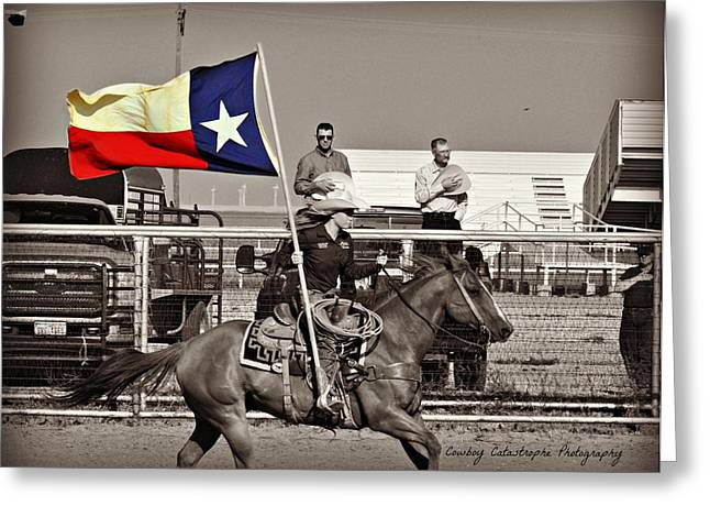 The Lone Star State Greeting Card by Lindsay Milloy